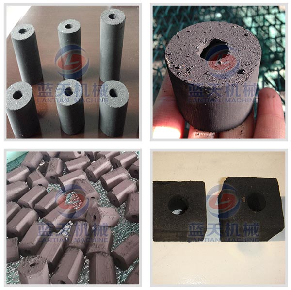 Finished products of wood charcoal briquette machine