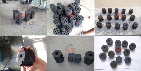 Finished Products of BBQ Charcoal Briquette Machine