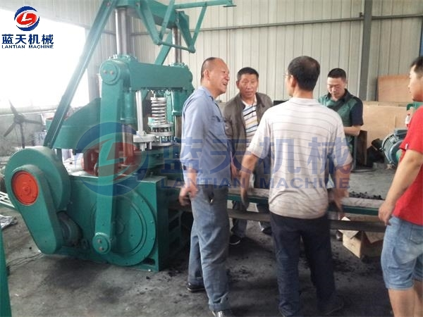 Customers Site of BBQ Charcoal Briquette Machine
