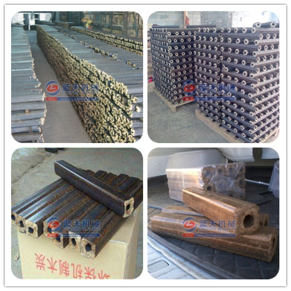 Finished Products of Sawdust Extruder Machine