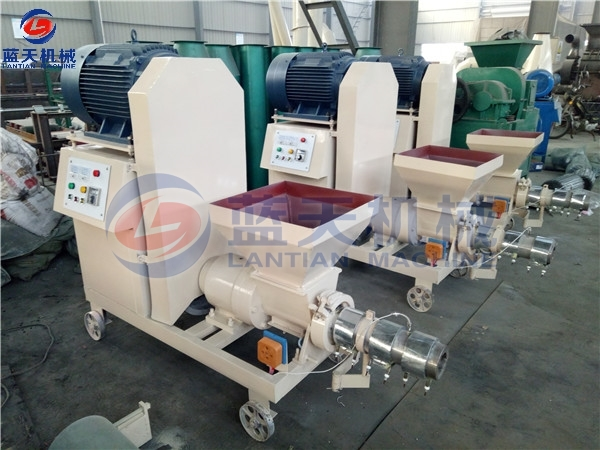 Customers Site of Rice Husk Extruder Machine