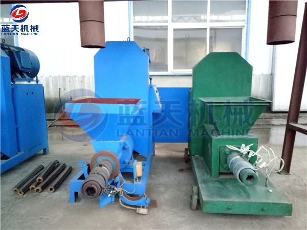 Customers Site of Rice Husk Extruder