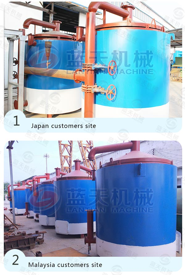 Customers Site of Bamboo Carbonization Furnace