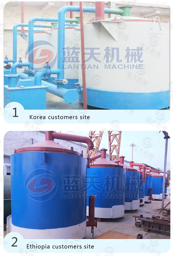 Customers Site of Coconut Shell Carbonization Furnace
